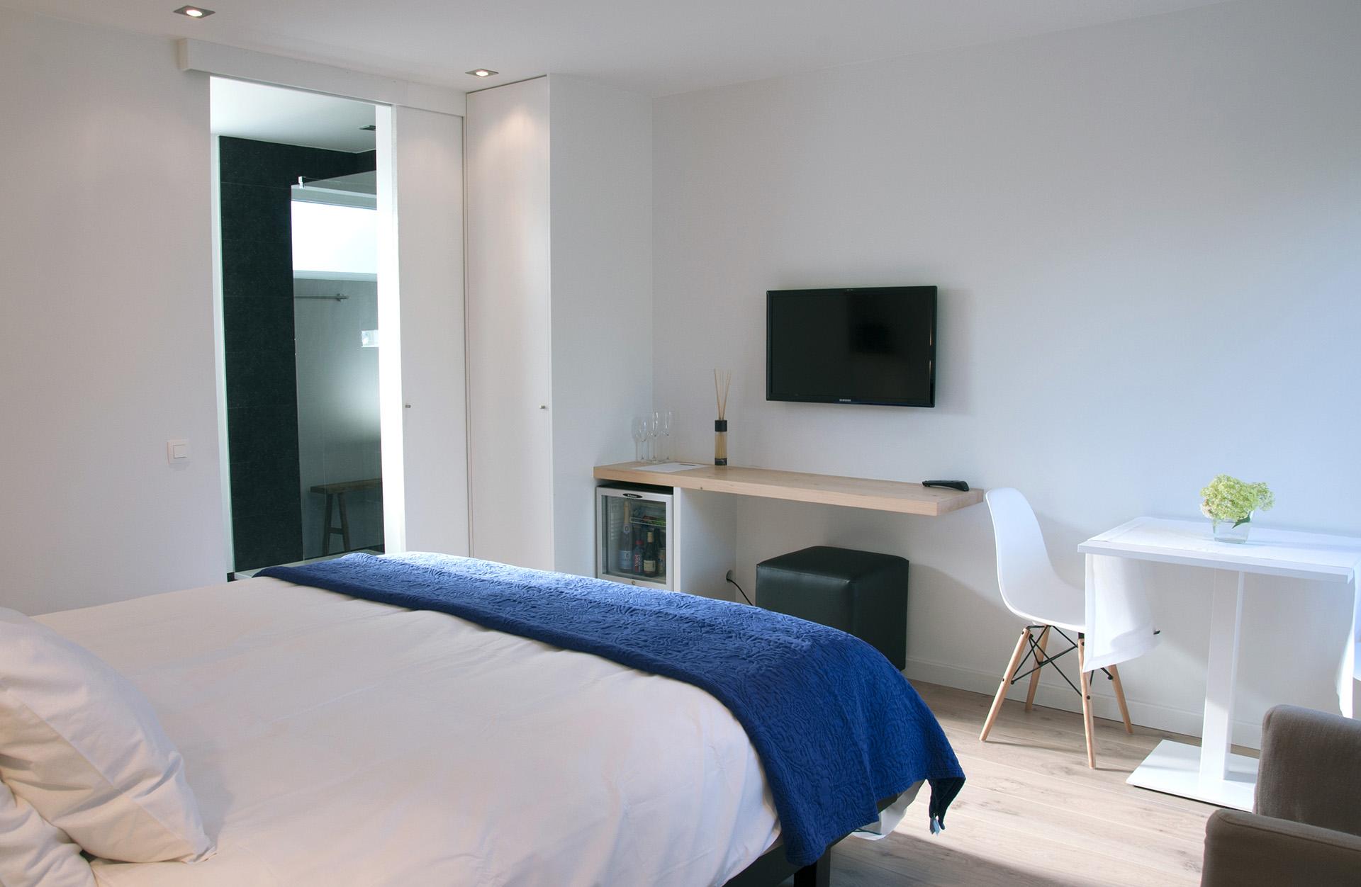 ruime en lichte kamers in bed & breakfast Aquavit in Knokke